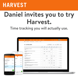 Daniel invites you to try Harvest. Time tracking you will actually use.